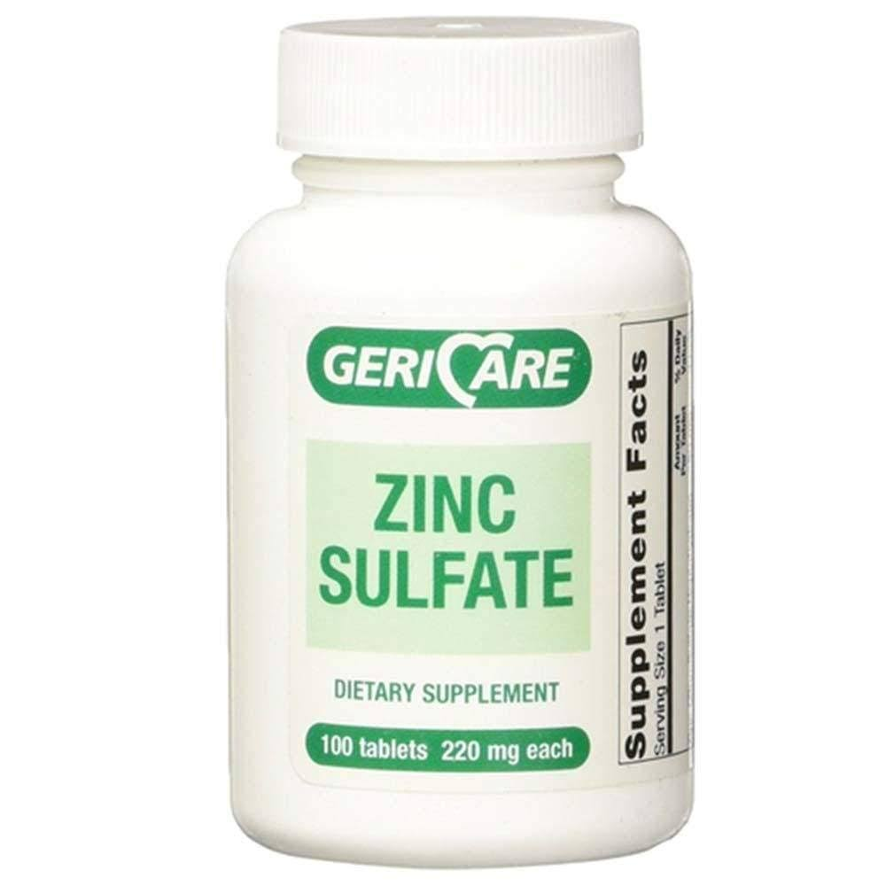 Gericare Zinc Sulfate Tablets 220mg - 100 Tablets