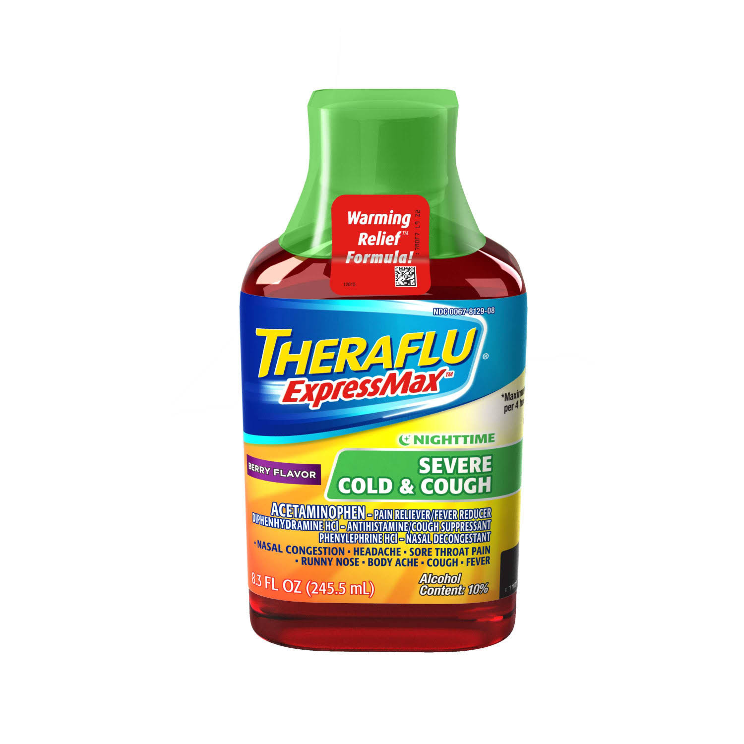 Theraflu Expressmax Nighttime Severe Cold & Cough - Berry
