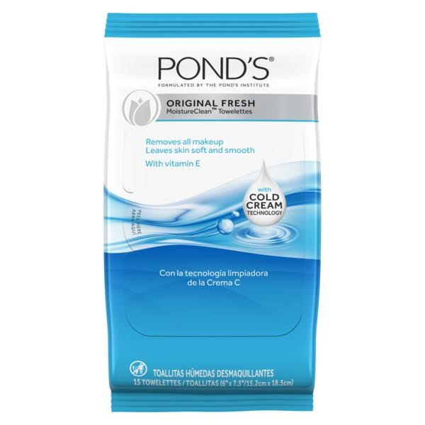 Pond's Clean Sweep Cleansing and Make-up Removing Towelettes - Original Fresh, 15ct