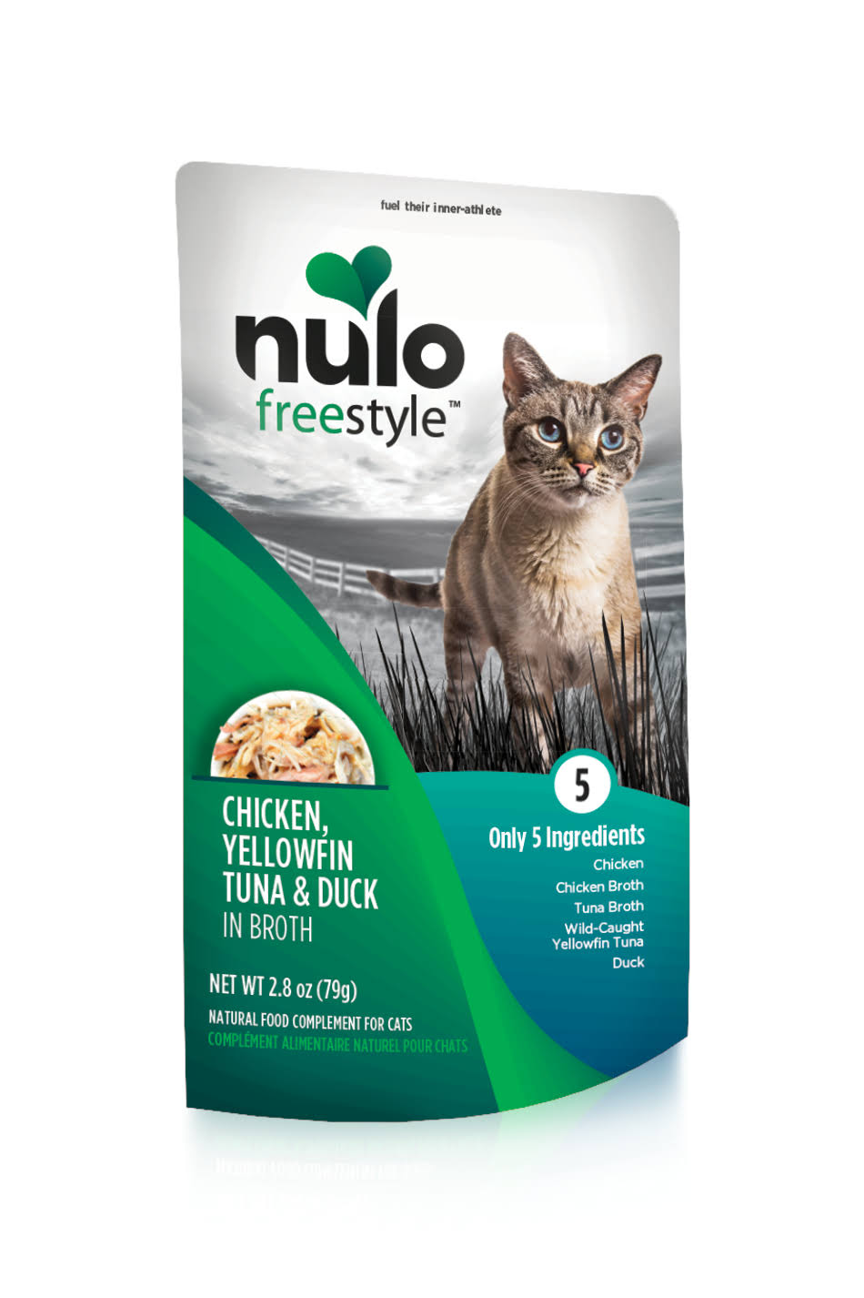 Nulo Freestyle Chicken, Yellowfin Tuna, Duck in Broth Wet Cat Food, 2.8 oz