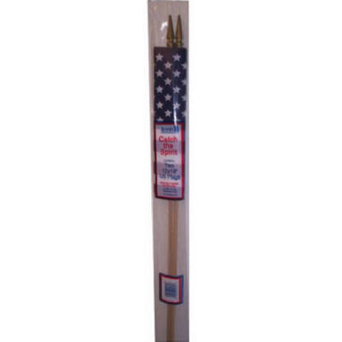 Annin Flagmakers 041309r 12x18 Poly US Flag, 2 Pack