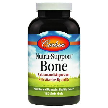 Carlson Nutra-Support Bone Dietary Supplement - 180 Soft Gels