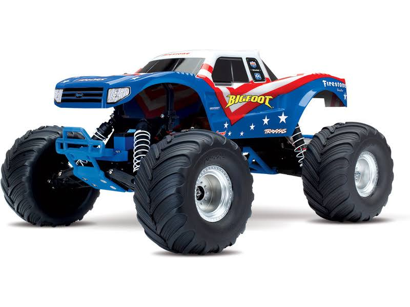 Traxxas Bigfoot 1/10 Monster Truck RTR - Red/White/Blue, 36084-1-RWB