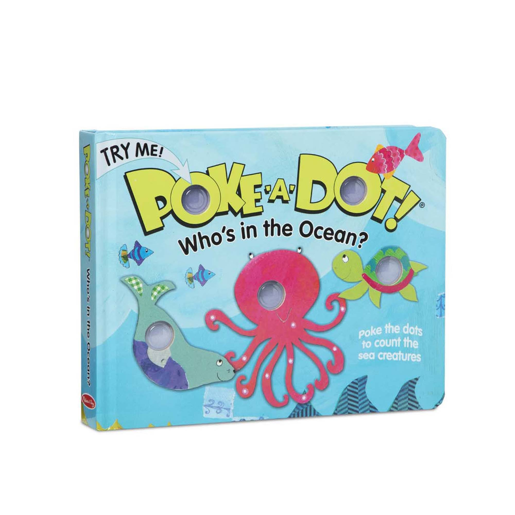 Melissa & Doug Poke-A-Dot Book- Who's in The Ocean