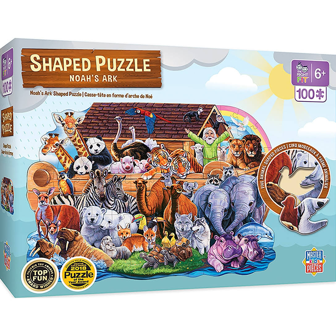 Masterpieces Noah's Ark 100pc Shaped Puzzle