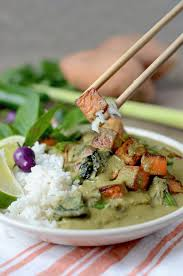 Thai Green Pumpkin Curry Recipe by Vegan Thai Green Curry From Scratch With Sweet Potatoes Tofu And