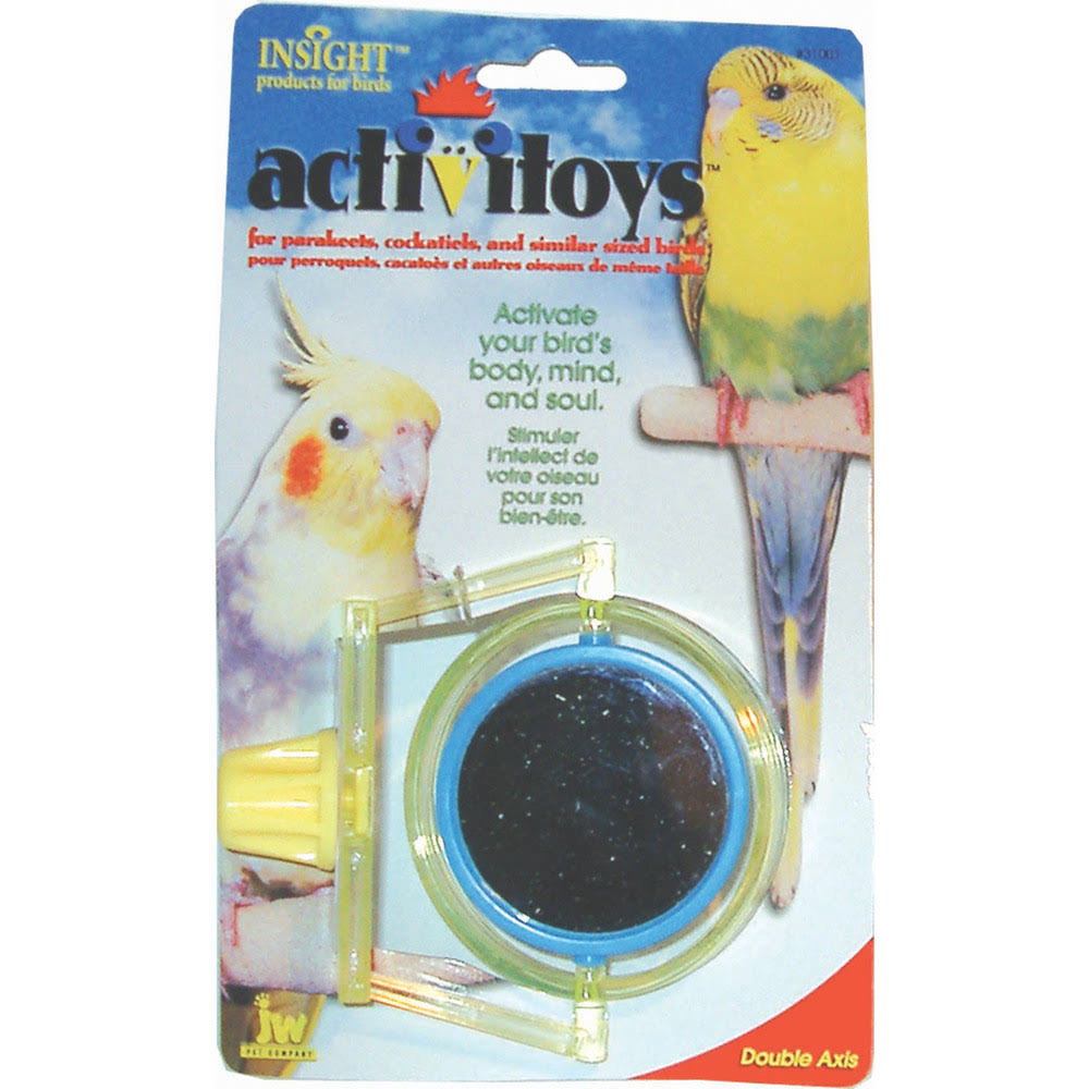 Jw Pet Company Activitoy Double Axis Bird Toy - Colors Vary, Small