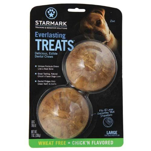 StarMark Everlasting Treat for Dogs - Veggie Chicken, Medium, 2 Pack