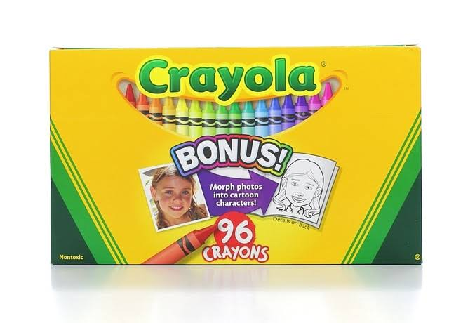 Crayola Crayons with Built-In Sharpener - 96 Crayons