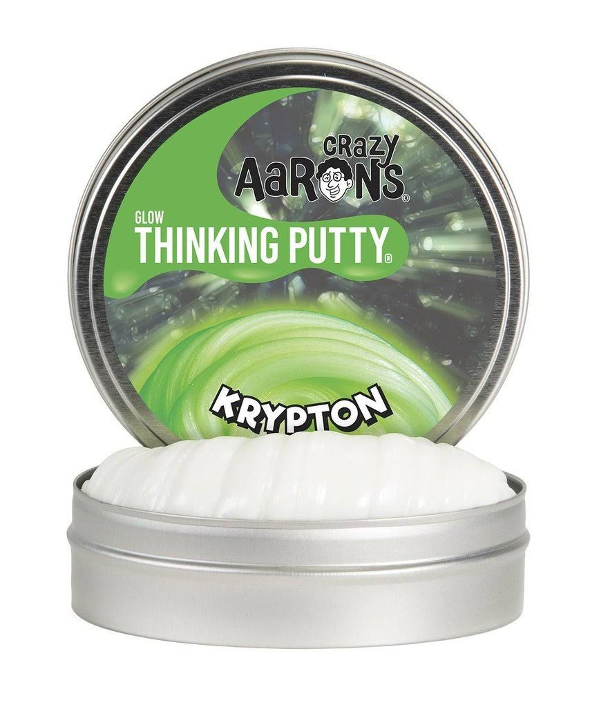 Crazy Aaron's Thinking Putty, Glow in the Dark, Green