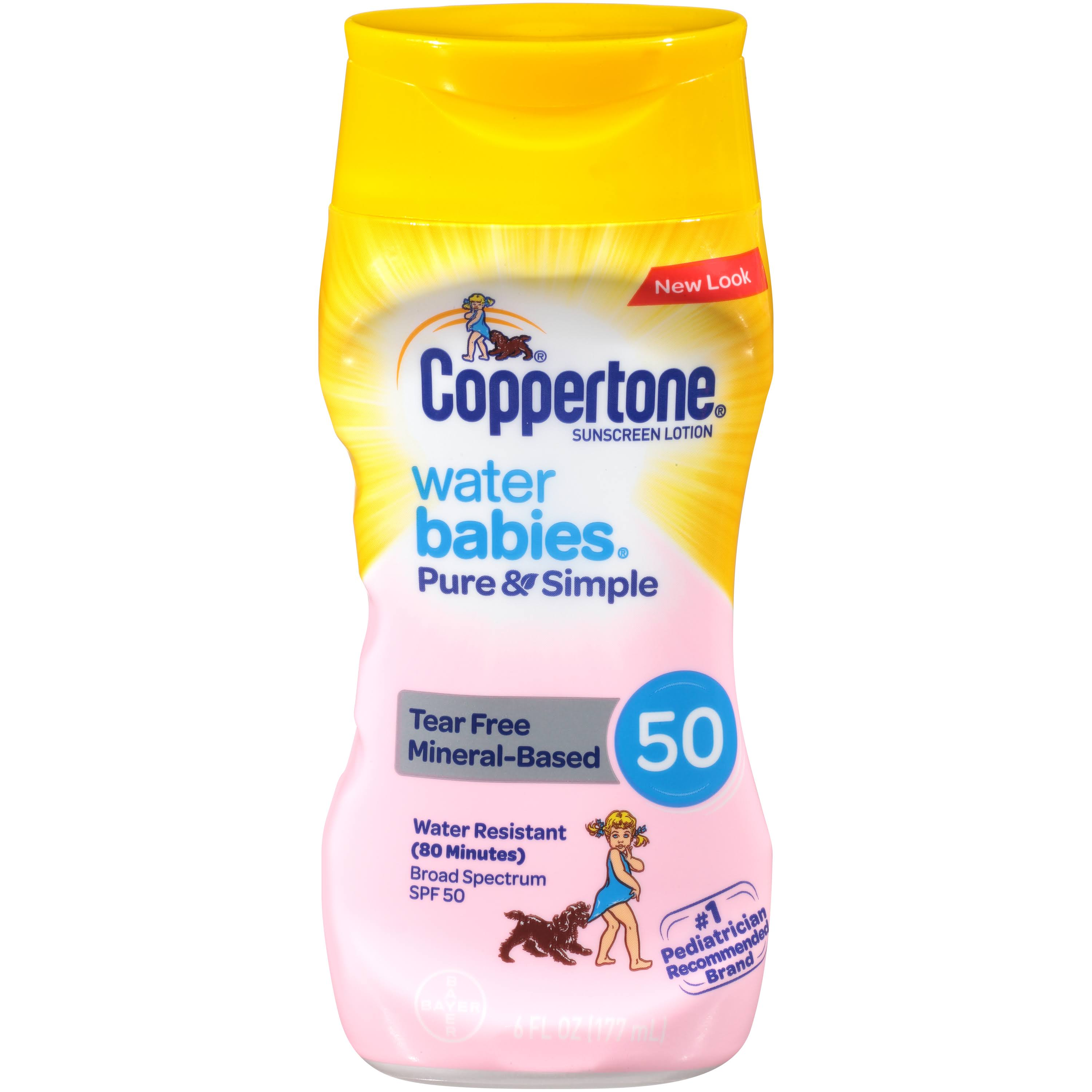 Coppertone Water Babies Pure and Simple Sunscreen Lotion - SPF 50, 6oz