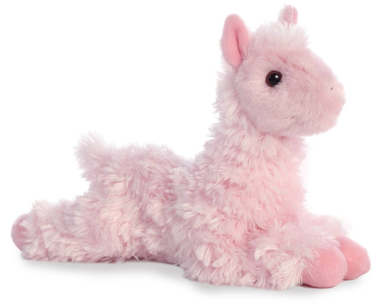 "Aurora World 8"" Mini Flopsie Plush Toy, Llama (Pink)"