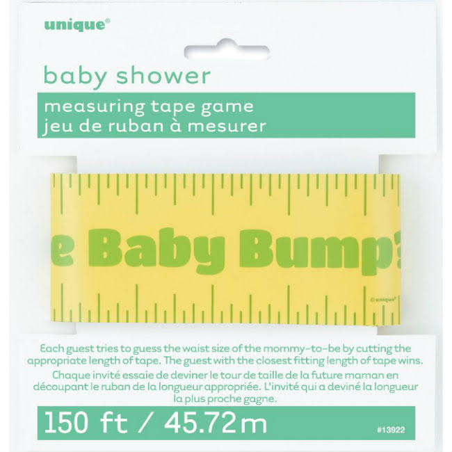 Unique Measuring Tape Baby Shower Game