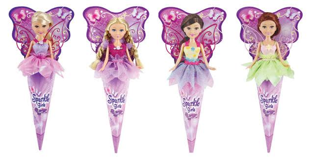 Sparkle Girlz Fairy Doll in Cone - Assorted