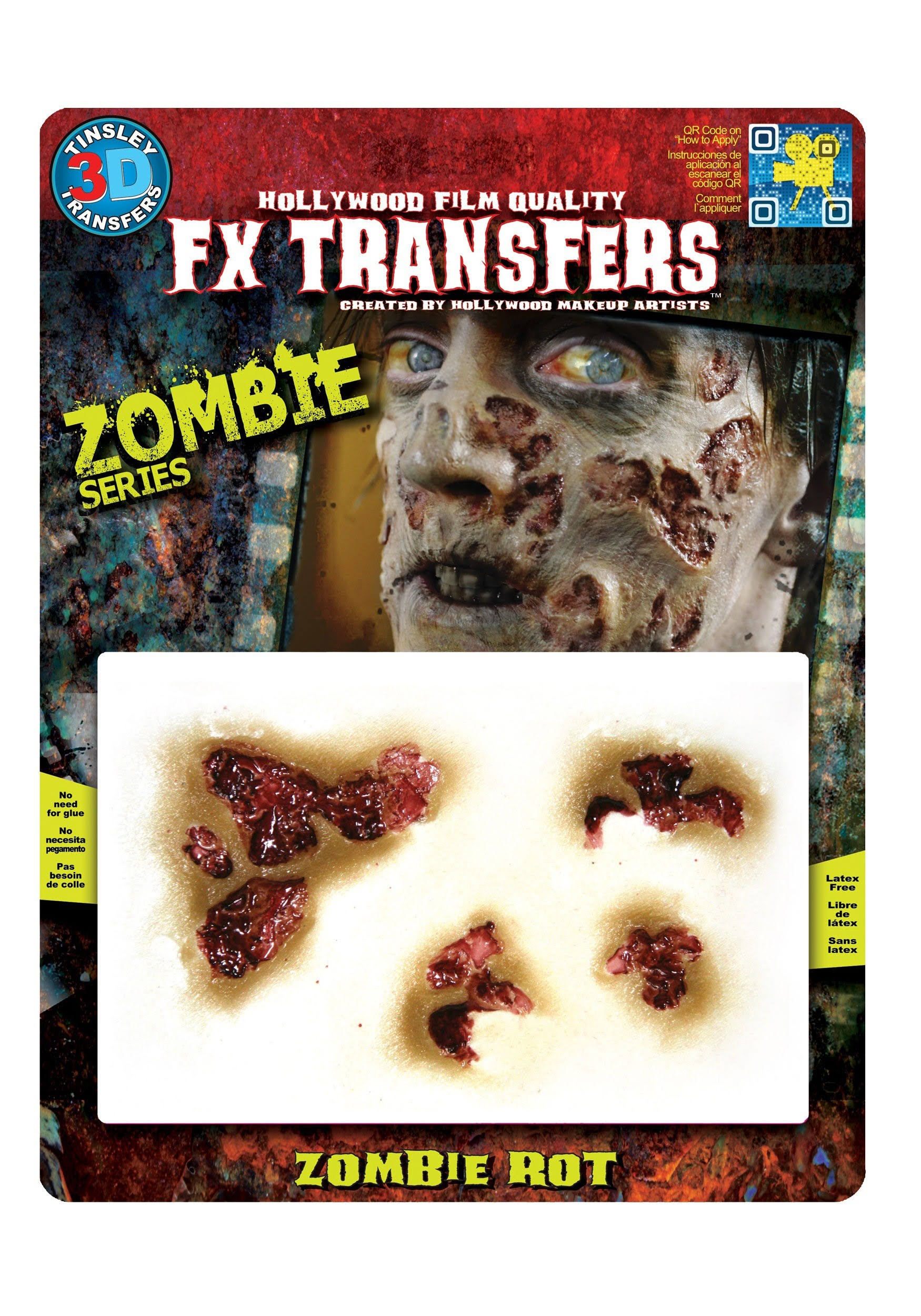 Tinsley Transfers 3D FX Zombie Rot Costume Makeup Transfer