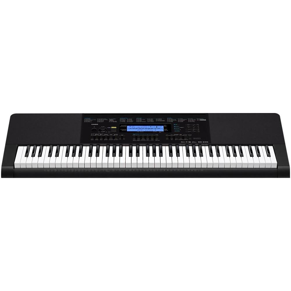 Casio WK245 76-Key Touch Sensitive Keyboard - With Power Supply
