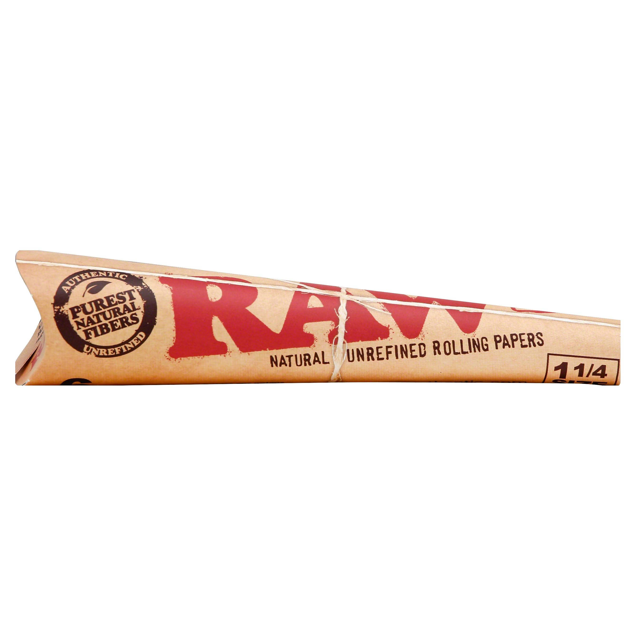 Raw Rolling Papers, Classic, Cone, 1-1/4 Size, 6 Pack - 6 pack