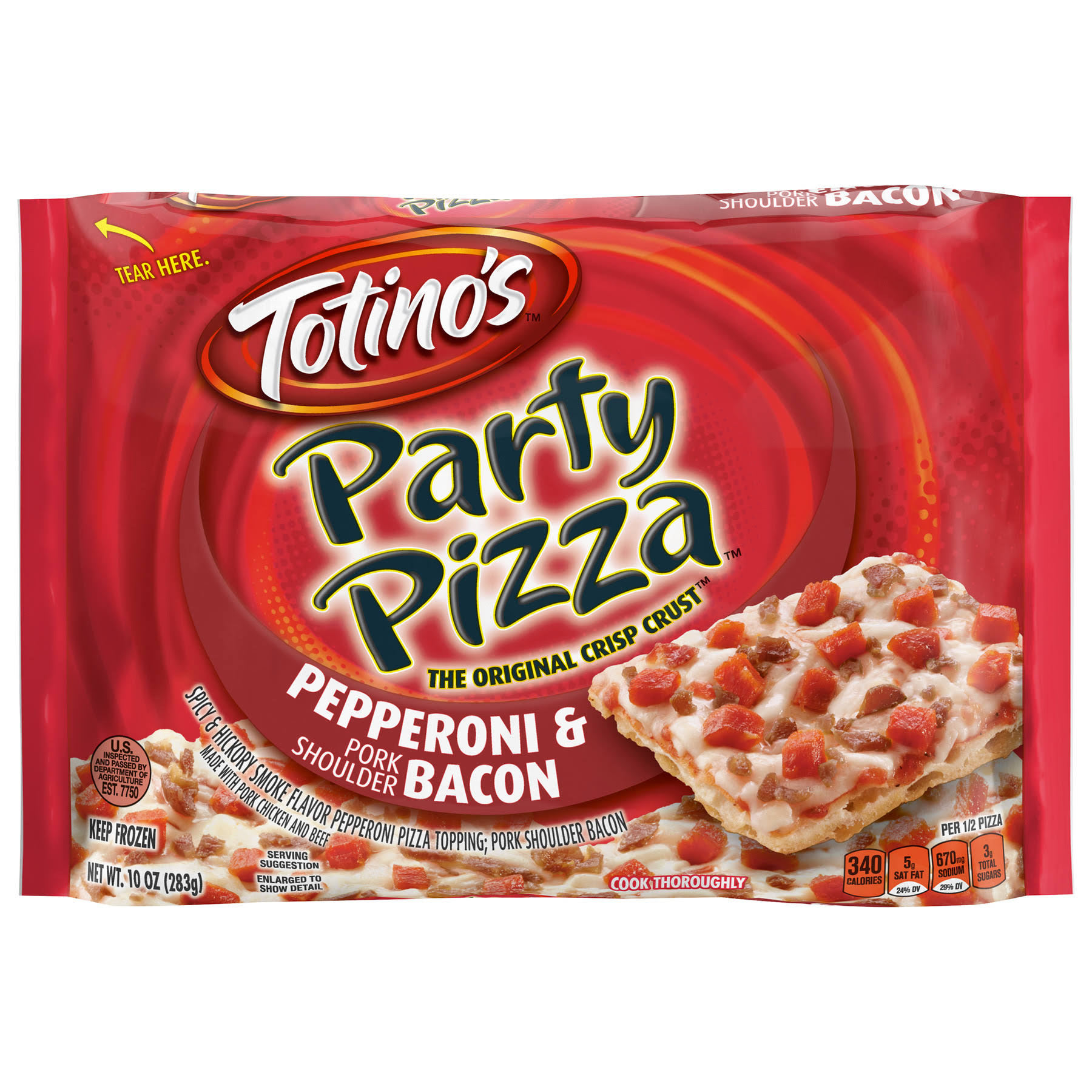 Totino's Party Pizza - Bacon and Pepperoni, 10oz