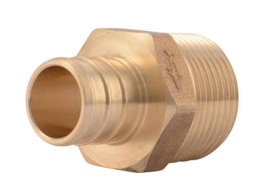 Sharkbite Brass Male Adapter, Uc134lfa10