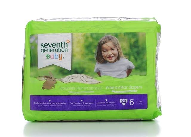 Seventh Generation Free & Clear Diapers - Stage 6