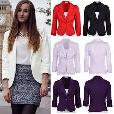 2017 spring 2017 women slim blazer coat new fashion ol casual