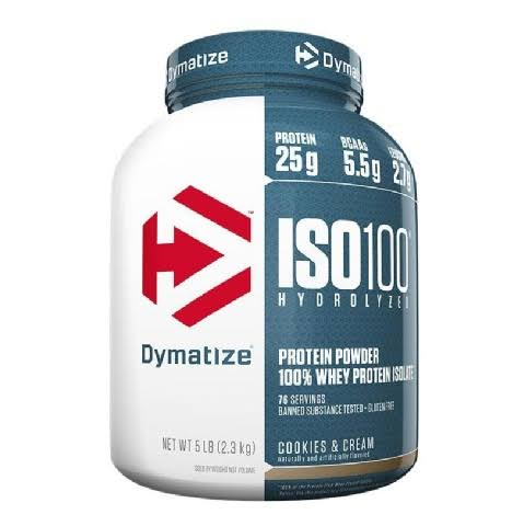 Dymatize ISO100 Hydrolyzed 100% Whey Protein Isolate - Cookies & Cream, 5 lbs