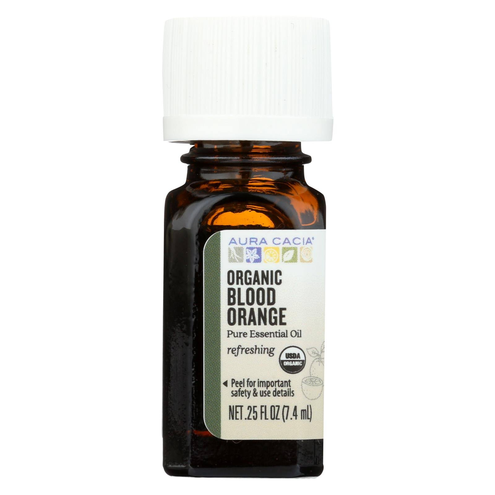 Aura Cacia Organic Blood Orange Essential Oil - 0.25oz