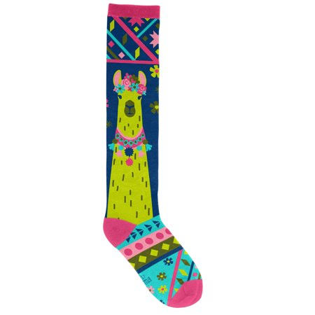 Karma Gifts Knee High Socks Llama