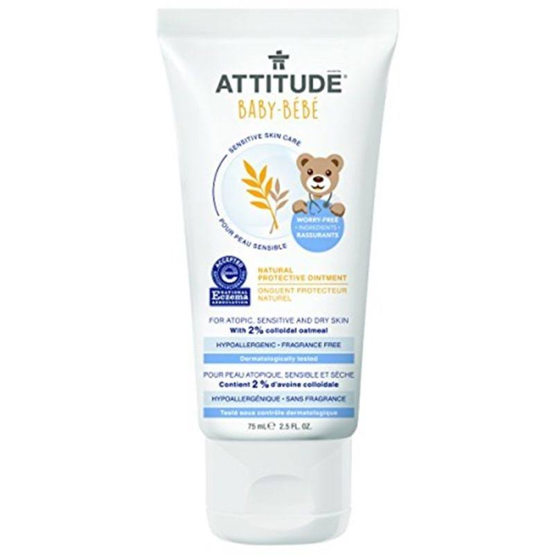 Attitude Baby Sensitive Skin Care Natural Protective Ointment - Fragrance Free, 2.5oz