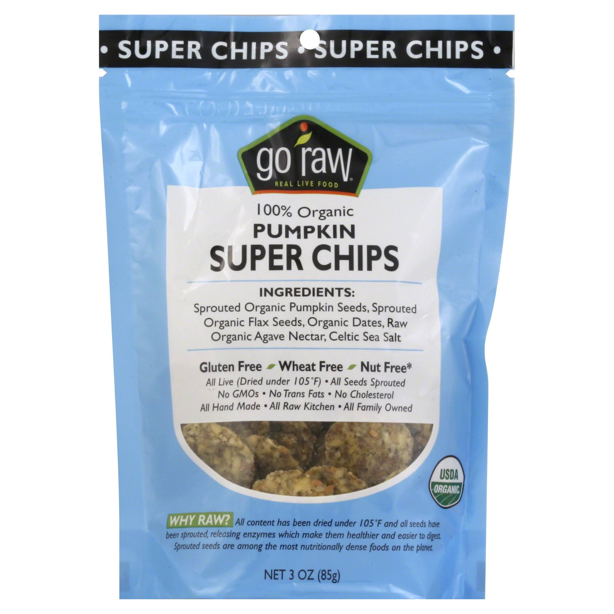 Go Raw Pumpkin Super Chips - 85g