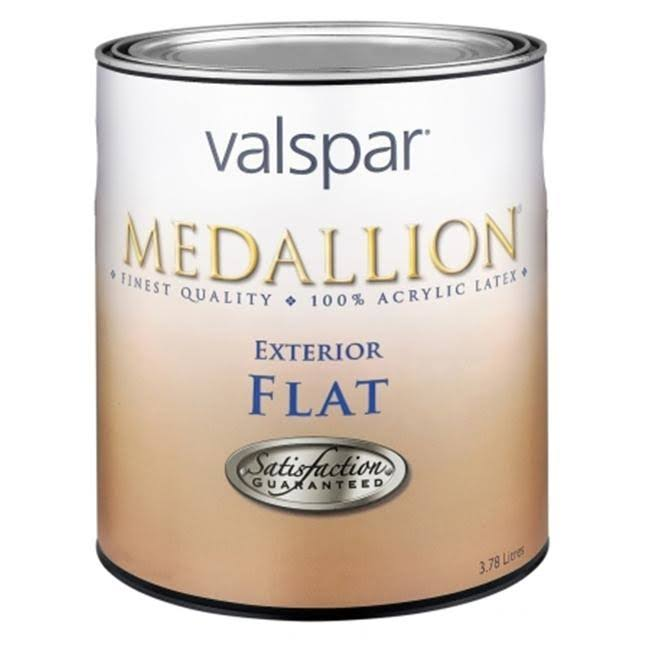Valspar Flat Clear Base Medallion Exterior Latex House Paint