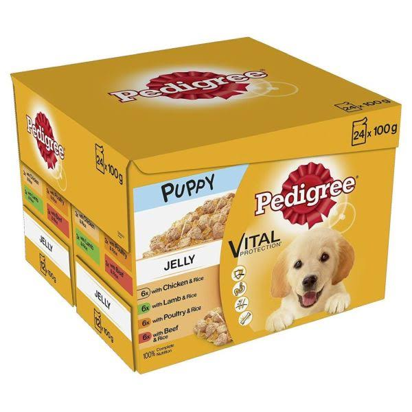 Pedigree Mixed Selection in Jelly Wet Puppy Dog Food - 2 to 12 Months, 100g, 24ct