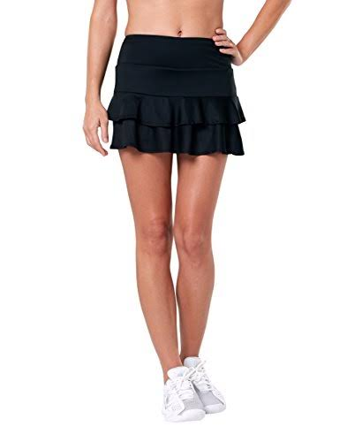 Tail Women's Doubles 13.5in Tennis Skort - Black, Large