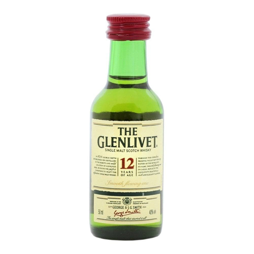 The Glenlivet 12 Year Old Single Malt Scotch - 50 ml bottle