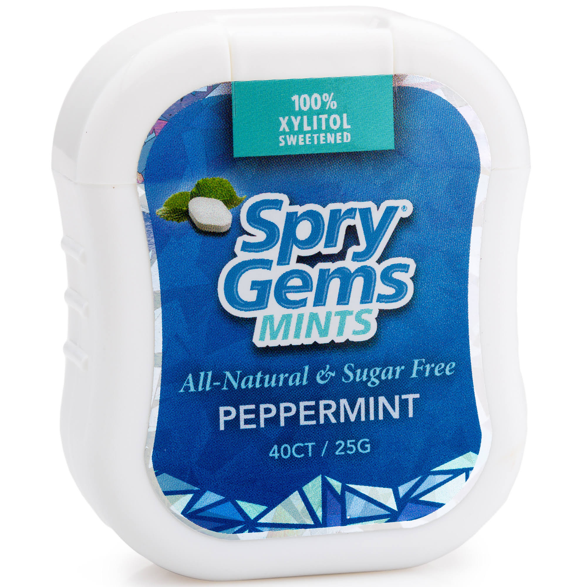 Spry Gems Peppermint - 40 count
