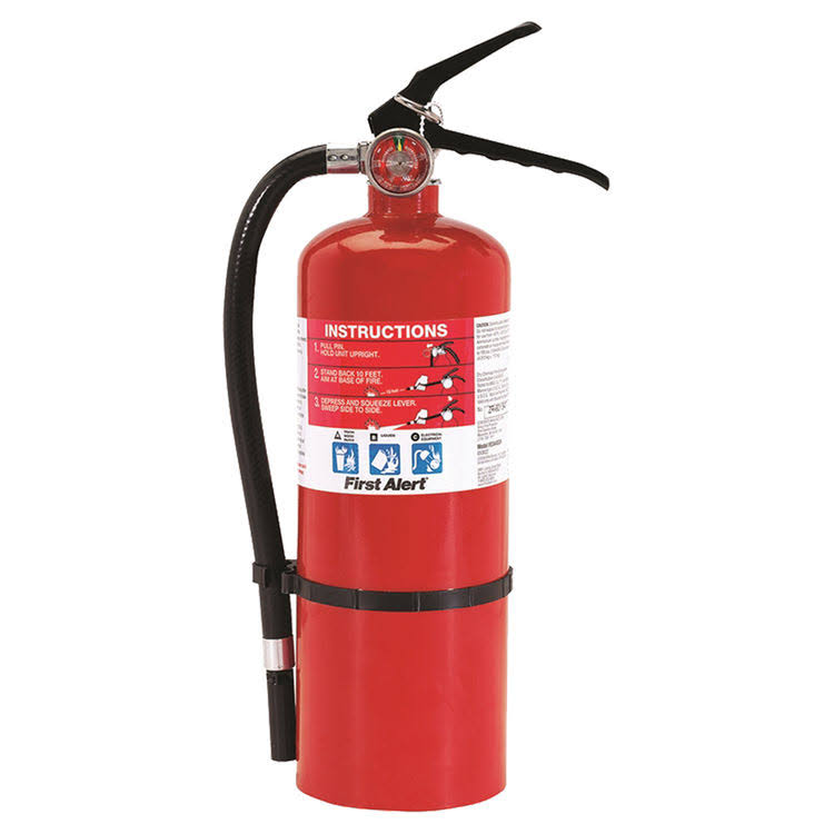 First Alert Heavy Duty Plus Fire Extinguisher - 5lb, Rechargable