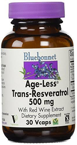 Bluebonnet Age-Less Trans-Resveratrol Supplement - 500mg, 30ct