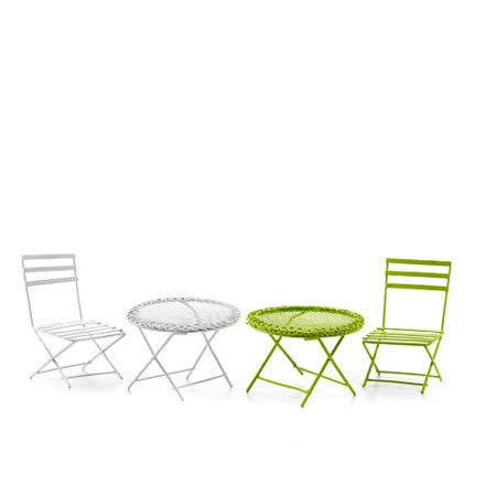 Darice Fairy Garden Furniture Set - Metal Chair & Table - 2 Assorted Colors