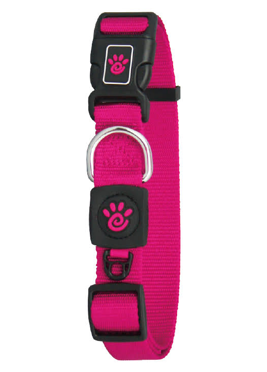 Doco DCSN1072-04M 6 ft. Signature Nylon Leash Dog Collar, Pink - Medium