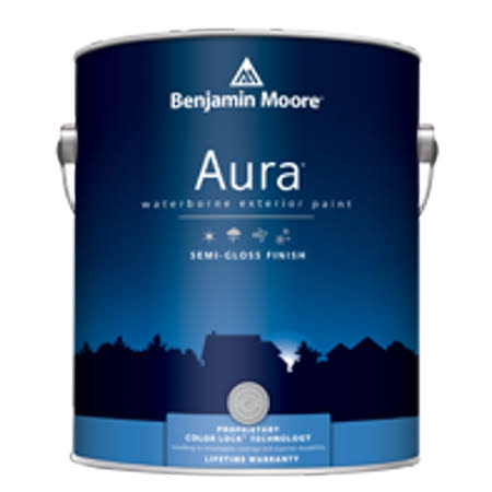 Benjamin Moore Aura Exterior Paint Semi-Gloss (632) White / Gallon