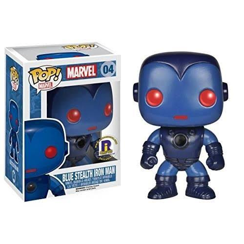 Funko Pop Blue Stealth Iron Man Marvel Vinyl Figure - 10cm