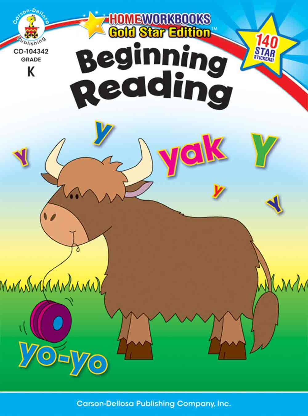 Beginning Reading Grade K: Gold Star Edition - Carson-Dellosa