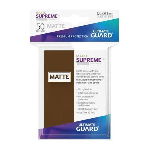 Ultimate Guard Supreme UX Sleeves - Matte Brown, 50ct