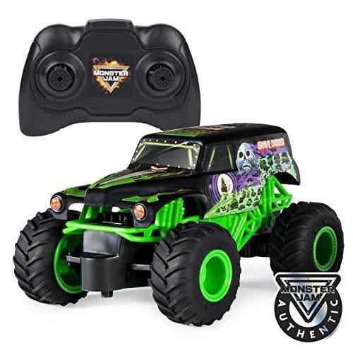 Monster Jam Official Grave Digger Remote Control Monster Truck 1:24 Scale 2.4 GHz for Ages 4 and Up