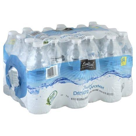 Essential Everyday Water, Drinking, Purified, 24 Pack - 16.9 fl oz