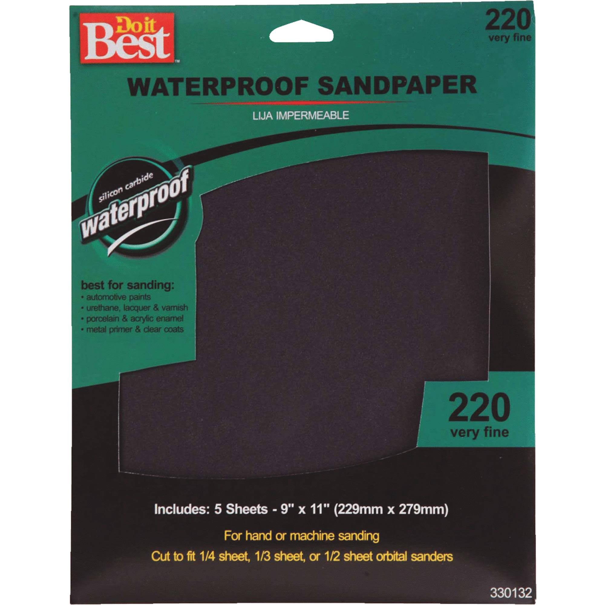 "Do It Best Wet Sandpaper - 9"" x 11"", 5pk"