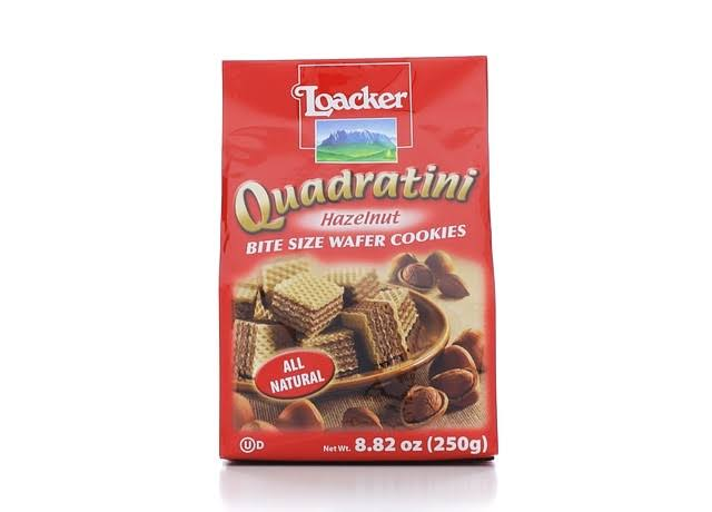 Loacker Quadratini Wafer Cookies - Hazelnut, 250g