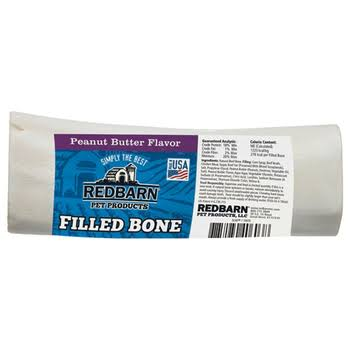 Redbarn Premium Pet Products Filled Bone Dog Treat - Peanut Butter, 6""