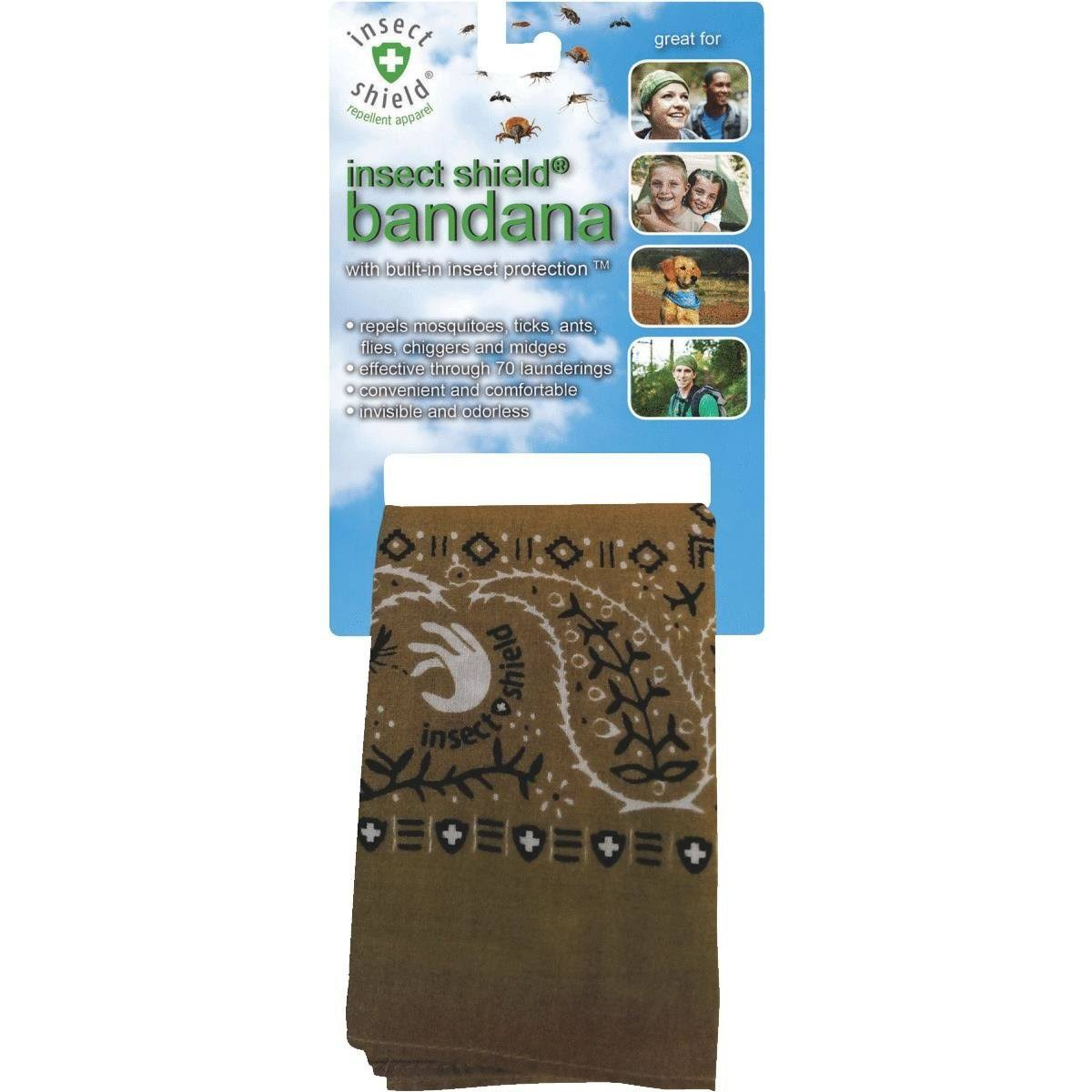 Insect Shield Bandana - Olive, One Size
