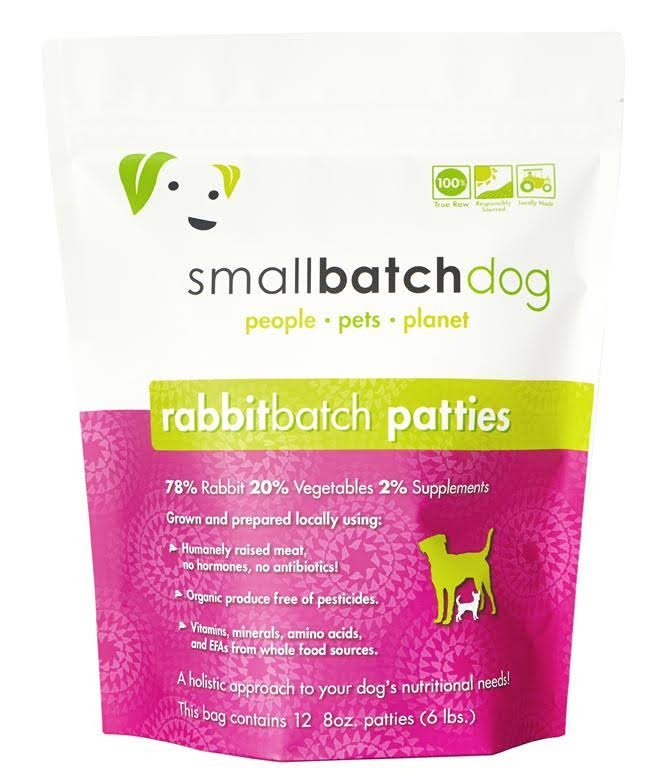 Smallbatch Pets Raw Frozen Sliders Dog Food 3lb Rabbit